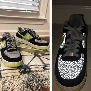 Sale Nike AF1 Reflective Crack Explosion shoes